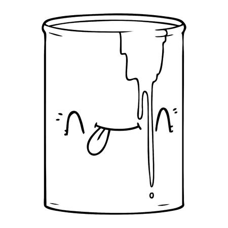 흑인과 백인 만화 독성 폐기물 일러스트
