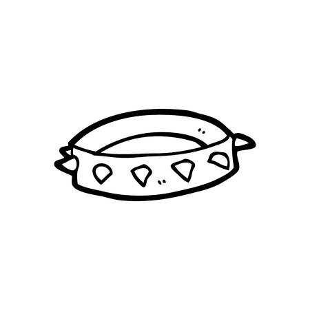 Collare di cane a spillo del fumetto Archivio Fotografico - 94837328