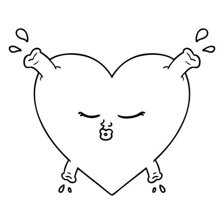 Cartoon Herz küssen Symbol Standard-Bild - 94837341