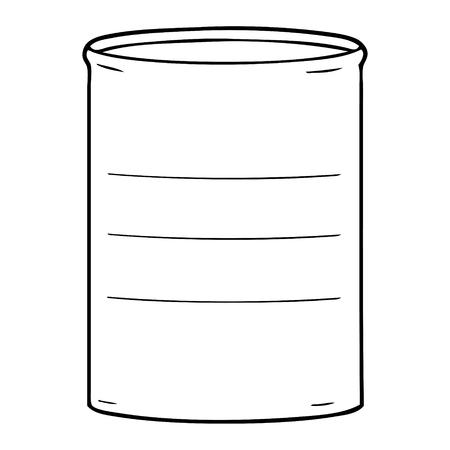 cartoon oil drum Illustration