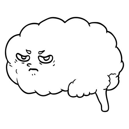 만화 화가 두뇌