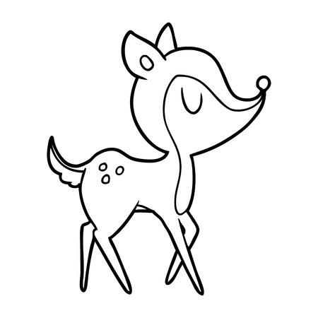 Cervo simpatico cartone animato Archivio Fotografico - 94837441