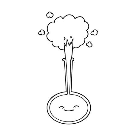 漫画の化学反応  イラスト・ベクター素材