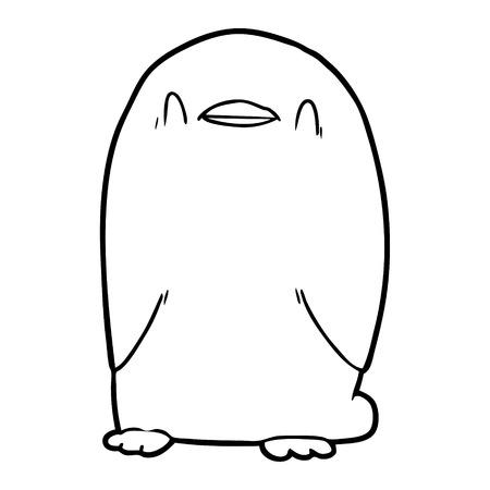 만화 펭귄 그림
