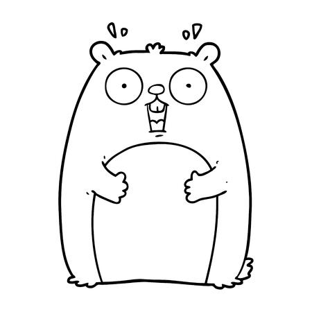 cartoon shocked ground hog Illustration