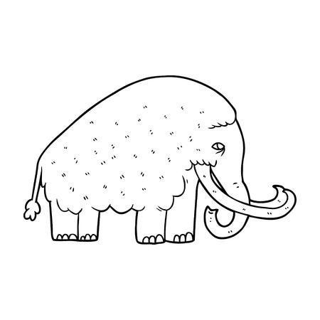 Mamute dos desenhos animados Foto de archivo - 94842760