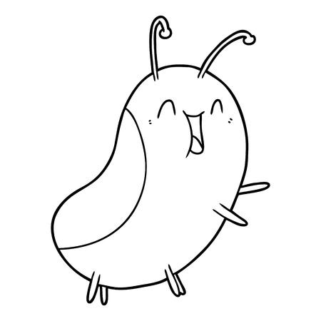 cartoon happy bug