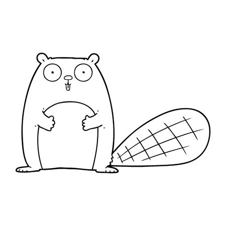 cartoon beaver illustration