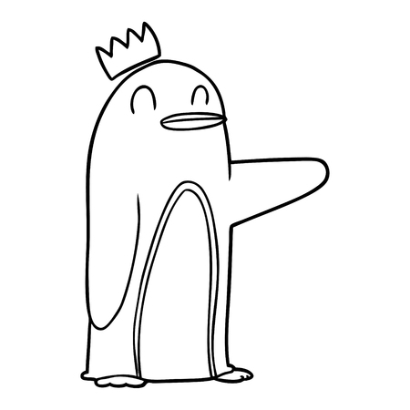 cartoon emperor penguin