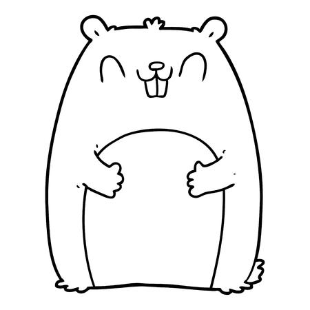 cartoon happy gopher