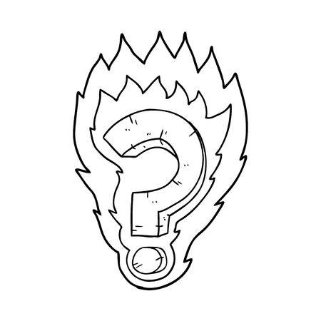 cartoon flaming question mark Stock fotó - 94883540