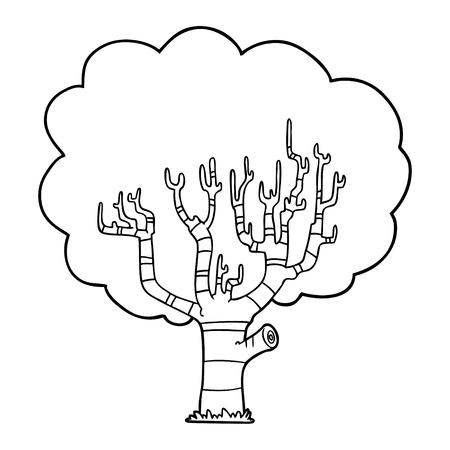 漫画の木  イラスト・ベクター素材