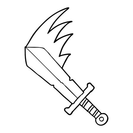 만화 스윙하는 칼