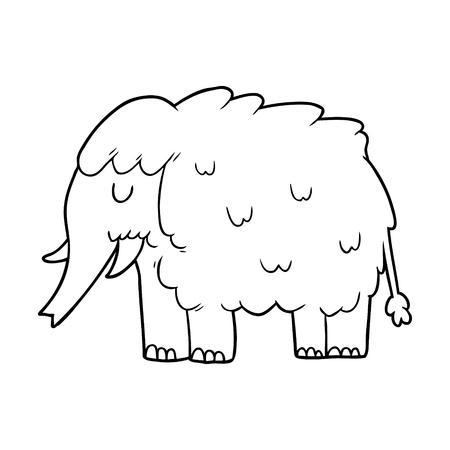 Mamute dos desenhos animados Foto de archivo - 94843619