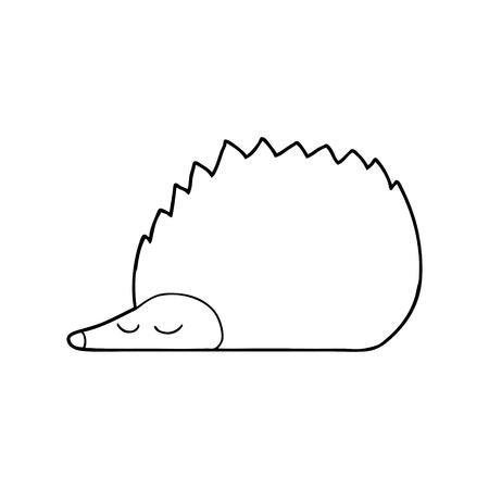 cartoon hedgehog illustration