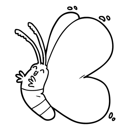 funny cartoon butterfly