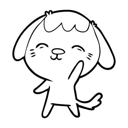 happy cartoon dog