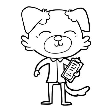 cartoon dog manager