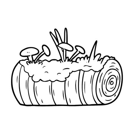 만화 오래 된 로그 버섯