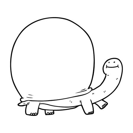 cartoon tortoise illustration Ilustração