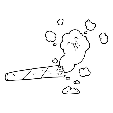 cartoon rokende sigaret