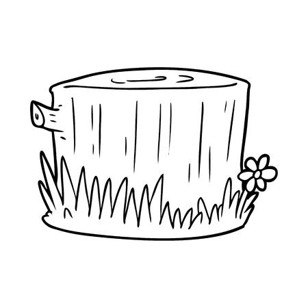 Tronco de árvore dos desenhos animados Foto de archivo - 94884522
