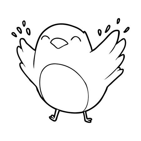 cartoon klappende vleugels van robin