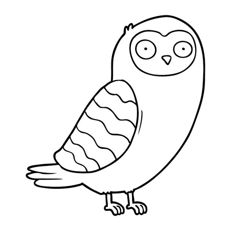 cartoon owl illustration Çizim