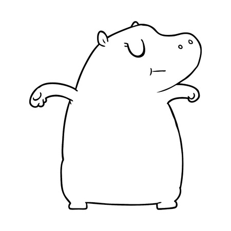 cartoon hippo illustration