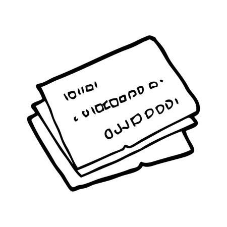 old credit cards cartoon Illusztráció