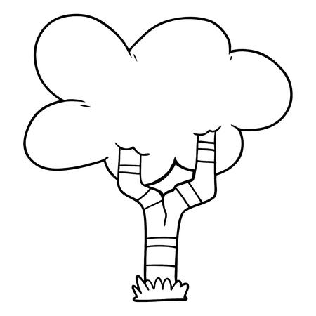 漫画の木のイラスト