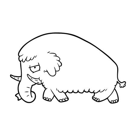 cartoon mammoth illustration Stock Illustratie