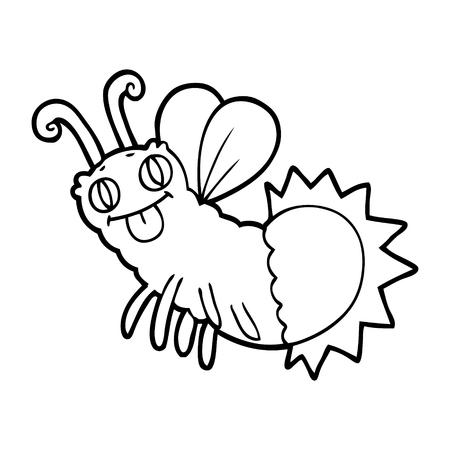 cartoon firefly illustration Illustration