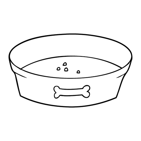 cartoon empty dog food bowl