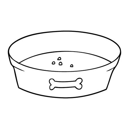 Cartoon lege hondenvoer kom Stock Illustratie