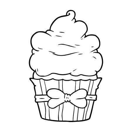 cartoon fancy cupcake