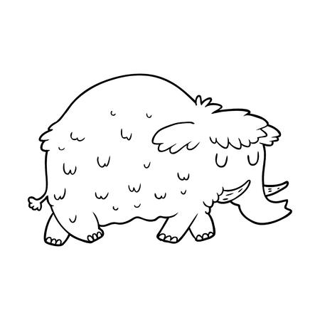 Cartoon prähistorischen Mammut Standard-Bild - 94884862