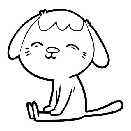 happy cartoon dog sitting