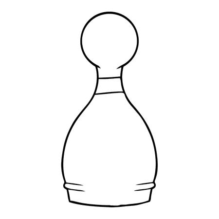 cartoon bowling pin