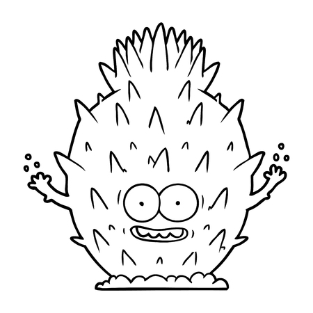 cartoon cactus illustration Illustration