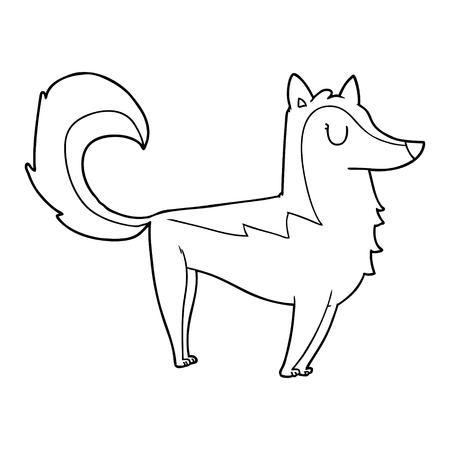 cartoon husky illustration