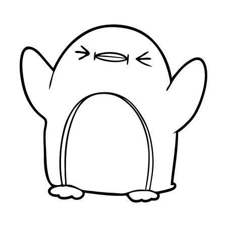 cartoon penguin illustration Stok Fotoğraf - 94885032