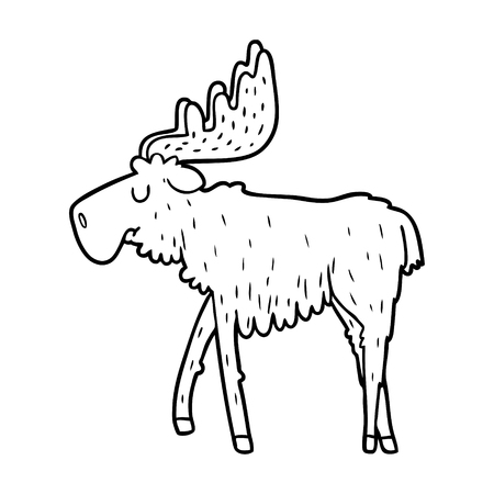 cartoon moose illustration