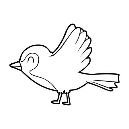 Cartoon Robin , der Flug Standard-Bild - 94885068
