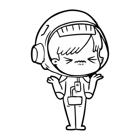 Garota do espaço confuso dos desenhos animados Foto de archivo - 94885097