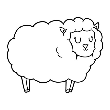 cartoon schapen illustratie Stock Illustratie