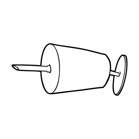 cartoon medical syringe 向量圖像