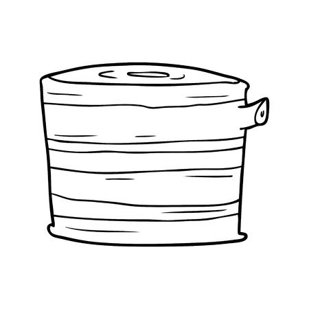 만화 나무 그루터기
