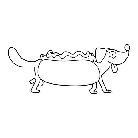cartoon hotdog illustration