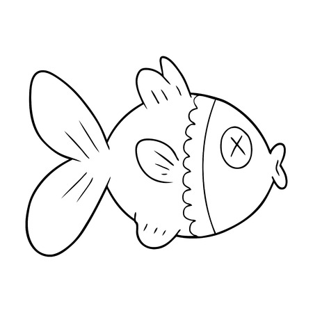 cartoon goudvis illustratie
